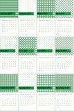 Juweel en axolotl gekleurde geometrische patronenkalender 2016 royalty-vrije illustratie
