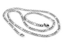 Juwel-Halskette - Edelstahl lizenzfreie stockfotos