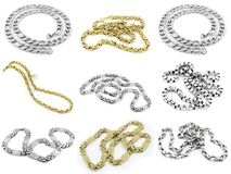 Juwel-Halskette - Edelstahl stockfotos