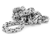 Juwel-Halskette - Edelstahl stockfoto