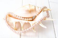 Juwel von rosa Perlen lizenzfreie stockfotografie