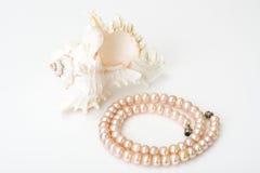 Juwel von rosa Perlen lizenzfreie stockfotos