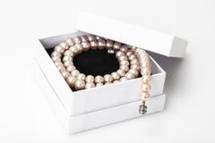 Juwel von rosa Perlen lizenzfreie stockbilder