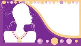 Juwelen 2 van het Adreskaartje royalty-vrije illustratie