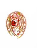 Juwelen dure Broche Stock Foto