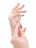 Juwelen in handen Royalty-vrije Stock Foto