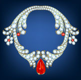 juwelen met diamanten Stock Foto's