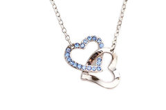 Juwelen met saffier Stock Foto