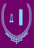 Juwelen met turkoois worden geplaatst dat Stock Afbeeldingen