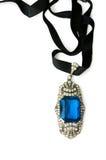 Juwelen met ultramarijnglas Stock Afbeeldingen