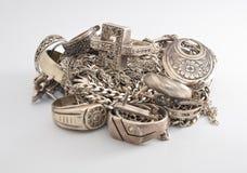 Juwelen op een witte achtergrond Royalty-vrije Stock Fotografie