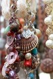 Juwelen und Amuletthängen. flach Lizenzfreie Stockbilder
