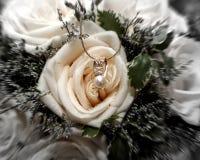 Juwelen und Rosen Lizenzfreies Stockfoto