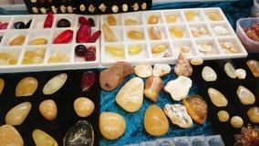 Juwelen van de Oostzee amber stock footage