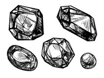 Juwelen, vectorschets Royalty-vrije Stock Afbeelding