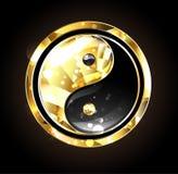 Juwelen yin yang symbool stock illustratie