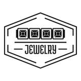 Juwelenembleem, eenvoudige zwarte stijl Stock Afbeeldingen
