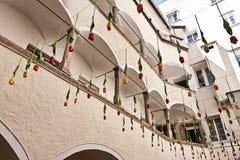 Juwelenhof, Rote Rosen regnen, Royalty Free Stock Image