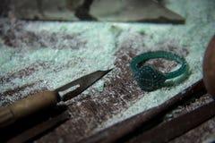 Juwelenhulpmiddelen op Desktop Stock Fotografie