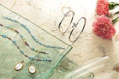 Juwelenreeks Royalty-vrije Stock Foto's