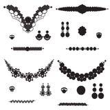 Juwelensilhouetten Royalty-vrije Stock Afbeelding
