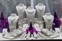 Juwelier - juwelen - Grote bazaarwinkels in Istanboel Royalty-vrije Stock Foto's