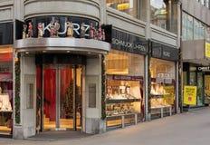 Juwelier Kurz lager på Bahnhofstrasse Royaltyfri Foto