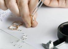 Der Juwelier Stockfotografie