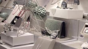 Juweliergeschäft-Fenster stock footage