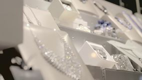 Juweliergeschäft-Fenster stock video