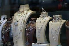 Juweliergeschäft im alten türkischen Basar in Skopje stockfotografie