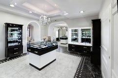 Juweliergeschäftinnenraum Stockfoto