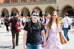 Juwenalia är årliga studenters ferie i Polen Royaltyfri Fotografi