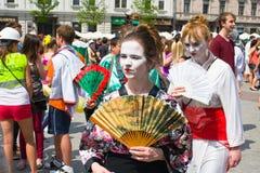 Juwenalia är årliga studenters ferie i Polen Royaltyfri Bild
