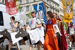 Juwenalia är årliga studenters ferie i Polen Royaltyfria Bilder
