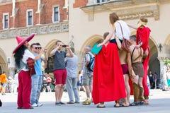 Juwenalia är årliga studenters ferie i Polen som firas vanligt för tre dagar i sena Maj Royaltyfria Foton