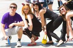 Juwenalia är årliga studenters ferie i Polen som firas vanligt för tre dagar i sena Maj Arkivfoto