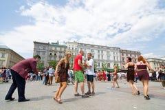 Juwenalia är årliga studenters ferie i Polen som firas vanligt för tre dagar i sena Maj Arkivfoton