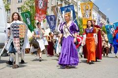 Juwenalia, é um feriado dos estudantes anuais no Polônia Foto de Stock Royalty Free
