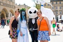 Juwenalia, est des vacances des étudiants annuels en Pologne, habituellement célébrée pendant trois jours fin mai Images libres de droits
