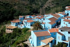 Juzcar,  blue Andalusian village Stock Images