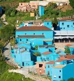 Juzcar, blue Andalusian village in Malaga Stock Photo