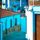 Juzcar, blue Andalusian village in Malaga Stock Photography