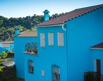 Juzcar, blue Andalusian village in Malaga Royalty Free Stock Photo