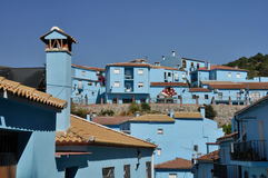 Juzcar, blue town in Malaga, Spain Royalty Free Stock Photo