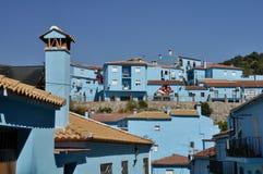 Juzcar, blue town in Malaga, Spain. Juzcar, blue town in Malaga (Spain Royalty Free Stock Photo