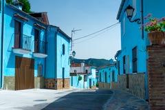 Juzcar das Smurf-Dorf lizenzfreies stockfoto