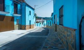 Juzcar das Smurf-Dorf lizenzfreies stockbild