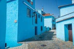 Juzcar das Smurf-Dorf lizenzfreie stockfotos