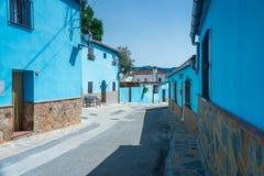 Juzcar the Smurf Village Stock Image